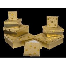 "Коробка подарочная золото ""Бриллиант"", 10 см"
