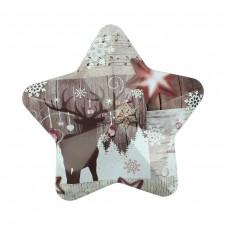 """Коробка подарочная ООТВ в форме звезды """"Олень"""" 10 х 9,5 см"""