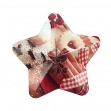 """Коробка подарочная ООТВ в форме звезды """"Корица"""" 10 х 9,5 см"""
