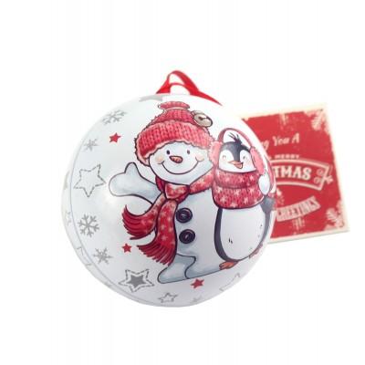 """Коробка-шар """"Снеговик и пингвин"""""""