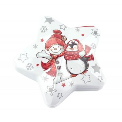 "Коробка-звезда ""Снеговик и пингвин"""