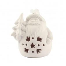 """Рождественская фигурка со светодиодной подсветкой """"Дед мороз с ёлкой"""", 9 х 8 см"""
