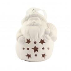 """Рождественская фигурка со светодиодной подсветкой """"Дед мороз с подарками"""", 9 х 8 см"""