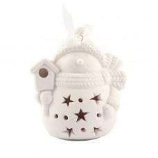 """Рождественская фигурка со светодиодной подсветкой """"Снеговик"""", 9 х 8 см"""