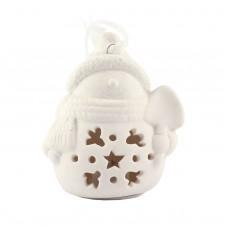 """Рождественская фигурка со светодиодной подсветкой """"Снеговик с лопатой"""", 9 х 8 см"""