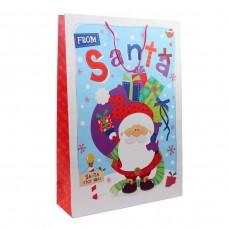 """Пакет бумажный XXL """"Christmas"""" Санта 45 х 65 см"""