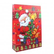 "Пакет бумажный XXL ""Christmas"" Дед Мороз 45 х 65 см"