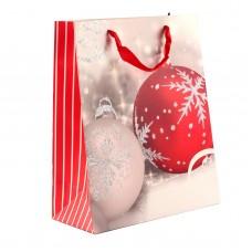 """Пакет бумажный """"Christmas Balls"""" 26 х 32 см"""