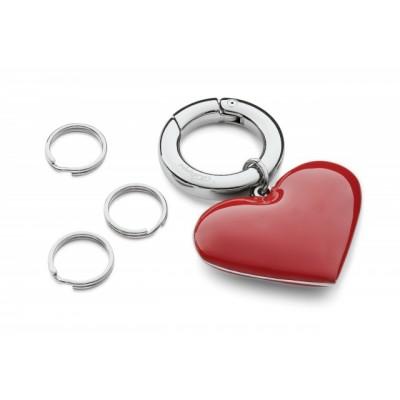 Брелок с кольцами Сердце
