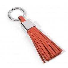 """Брелок для ключей с кожаной кисточкой Philippi """"Gala"""", 13см, оранжевый"""