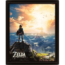 "3D Постер ""The Legend Of Zelda (Sunset)"""