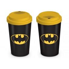 Эко кружка для путешествий (с крышкой) Batman (Logo) / Бэтмен