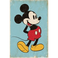 "Постер ""Mickey Mouse (Retro)"""