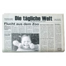 "Товальетка с фото "" Newspaper German"""