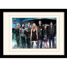 """Постер в раме """"The Big Bang Theory (UFO)"""" 30 x 40 см"""