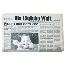 """Товальетка с фото """" Newspaper German"""""""