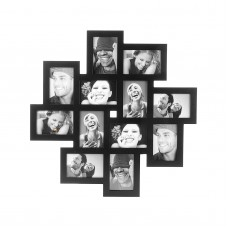 Фоторамка Present Time на 12 фото 10 х 15 см, черная