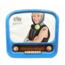 """Фоторамка """"Винтажное радио"""", стекло, голубая"""
