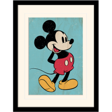 "Постер в раме  ""Mickey Mouse (Retro)"""