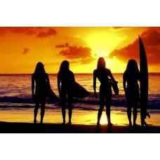 "Постер ""Surf Babes"""