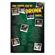 "Постер ""You know you are drunk when"""