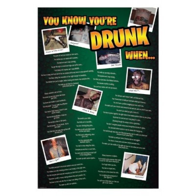 """Постер """"You know you are drunk when"""""""