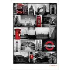 "Постер ""London - Red Collage"""