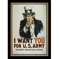Постер в раме I Want You (Uncle Sam) 30 х 40 см