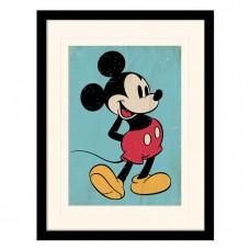 """Постер в раме  """"Mickey Mouse (Retro)"""" 30 x 40 см"""
