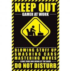 """Постер """"Gamer At Work"""" 61 x 91,5 cм"""