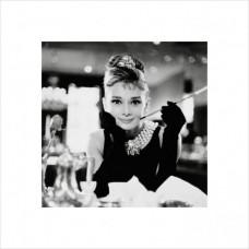 "Постер ""Hepburn B&W"" 3D с рамой  40 x 40 cм"
