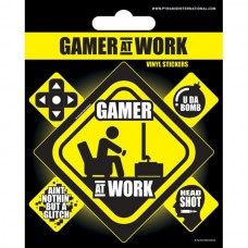Винил. наклейки Gamer at Work