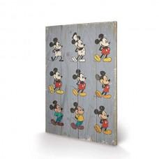 "Постер деревянный ""Mickey Mouse "" 40 х 59 см"