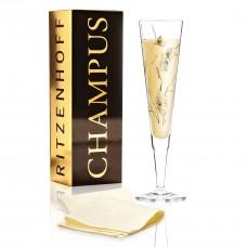 """Бокал для шампанского """"Ветряные цветы"""" от Marvin Benzoni, 205мл"""