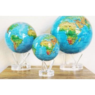 """Гиро-глобус Solar Globe """"Физическая  карта Мира"""" 15,3 см (MG-6-RBE)"""