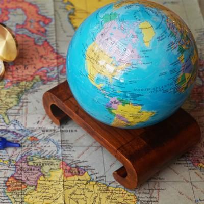 """Гиро-глобус Solar Globe """"Политическая карта"""" 11,4 см (MG-45-BOE)"""
