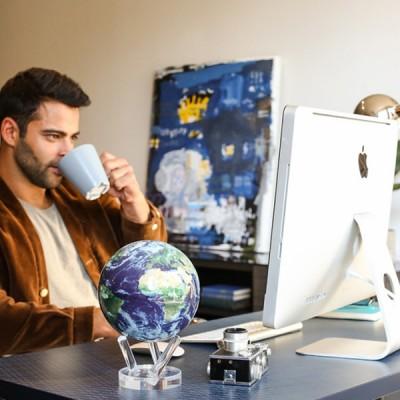 """Гиро-глобус Solar Globe """"Земля в облаках"""" 11,4 см (MG-45-STE-C)"""