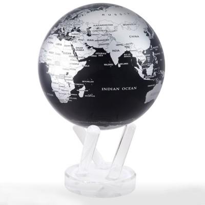 """Гиро-глобус Solar Globe Mova """"Политическая карта"""" 11,4 см серебристо-черный (MG-45-SBE)"""