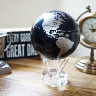 """Гиро-глобус Solar Globe """"Политическая карта"""" 11,4 см серебристо-черный (MG-45-SBE)"""