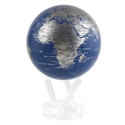 """Гиро-глобус Solar Globe """"Политическая карта"""" 11,4 см серебристый (MG-45-BSE)"""