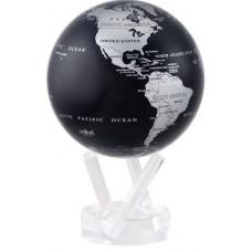 """Гиро-глобус Solar Globe Mova """"Политическая карта"""" 21,6 см серебристо-черный (MG-85-SBE)"""