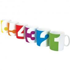 """Набор чашек для компании """"От одного до шести"""""""