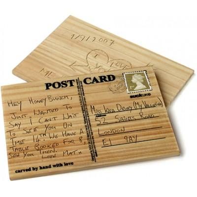 """Деревянная открытка """"CARVECARD"""""""