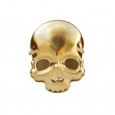 Биндер в форме черепа, золотой