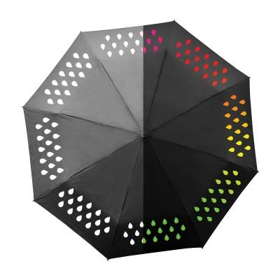Компактный зонт-хамелеон, меняющий цвет от воды
