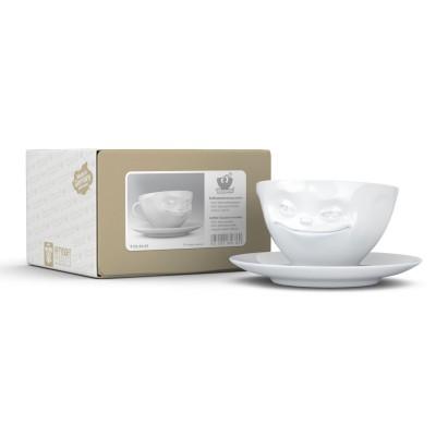 """Чашка  с блюдцем для кофе Tassen """"Усмешка"""" (200 мл), фарфор"""