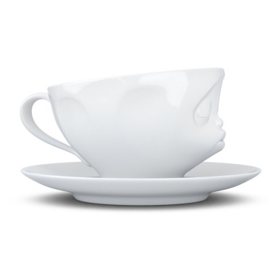 Чашка с блюдцем для кофе Tassen Поцелуй (200 мл), фарфор