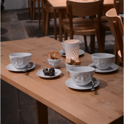 Чашка с блюдцем для кофе Tassen Счастливая улыбка (200 мл), фарфор