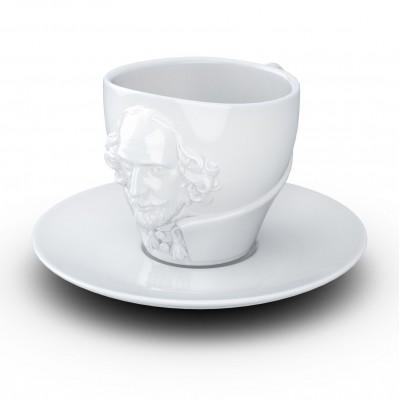 Чашка с блюдцем Tassen Вильям Шекспир (260 мл), фарфор