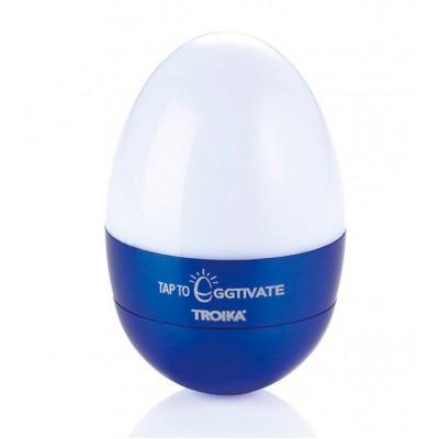 Светильник-ночник Troika Eggtivate, с датчиком вибрации, синий
